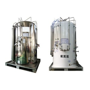 Mini cryogenic storage tank container