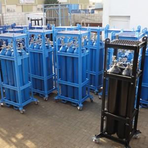 Oxygen Argon Nitrogen CO2 Gas Cylinder Bundle